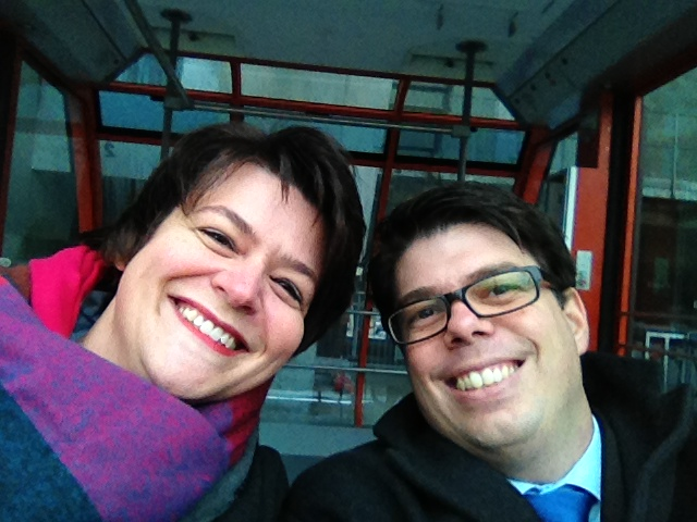 Brigitte & Stefan Gerber alleine in der Gondelbahn